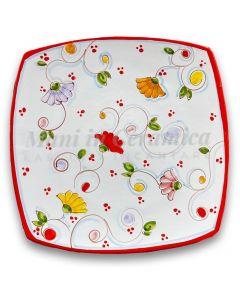Piatto Sushi in ceramica vietrese DECORO PRIMULA NEW