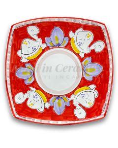 Piatto Sushi in ceramica vietrese DECORO TARTARUGA NEW