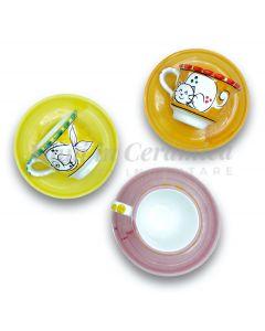 Tazzina con piattino da caffè in ceramica di Vietri