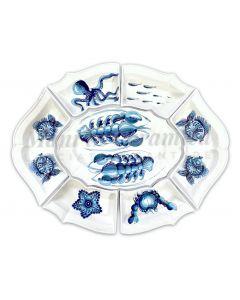 Antipastiera 7 pezzi in ceramica di Vietri