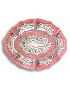 Antipastiera 7 pezzi in ceramica di Vietri NAIF