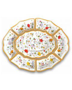 Antipastiera 7 pezzi in ceramica vietrese DECORO PRIMULA NEW