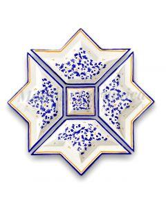 Antipastiera a Stella in ceramica di Vietri
