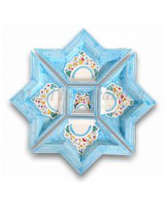 Antipastiera a Stella in Ceramica Vietrese DECORO NAIF