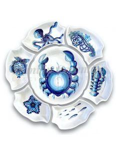 Antipastiera Fiore in ceramiche di Vietri