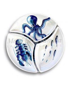 Antipastiera Girella in ceramica Vietrese