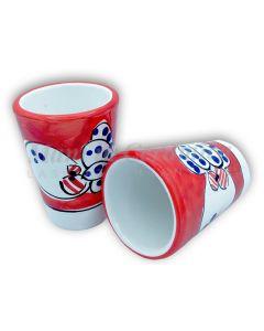 Bicchierino Liquore in Ceramica Vietrese DECORO POLPO NEW