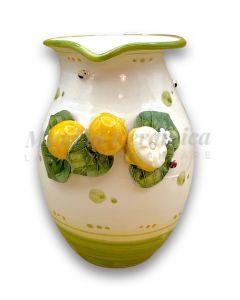 Brocca in ceramica vietrese APPLICAZIONE LIMONI