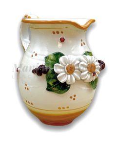 Brocca in ceramica vietrese APPLICAZIONE MARGHERITE