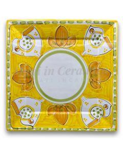 Piatto quadrato in ceramica di Vietri