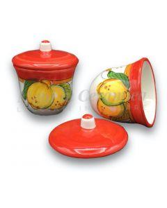 Zuccheriera svasata in ceramica di Vietri
